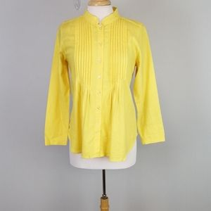 Chadwicks Pleated Front Button Up Shirt Size PS